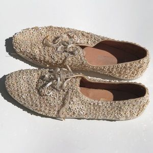 Shoes - Hand sewed sequined sneakers